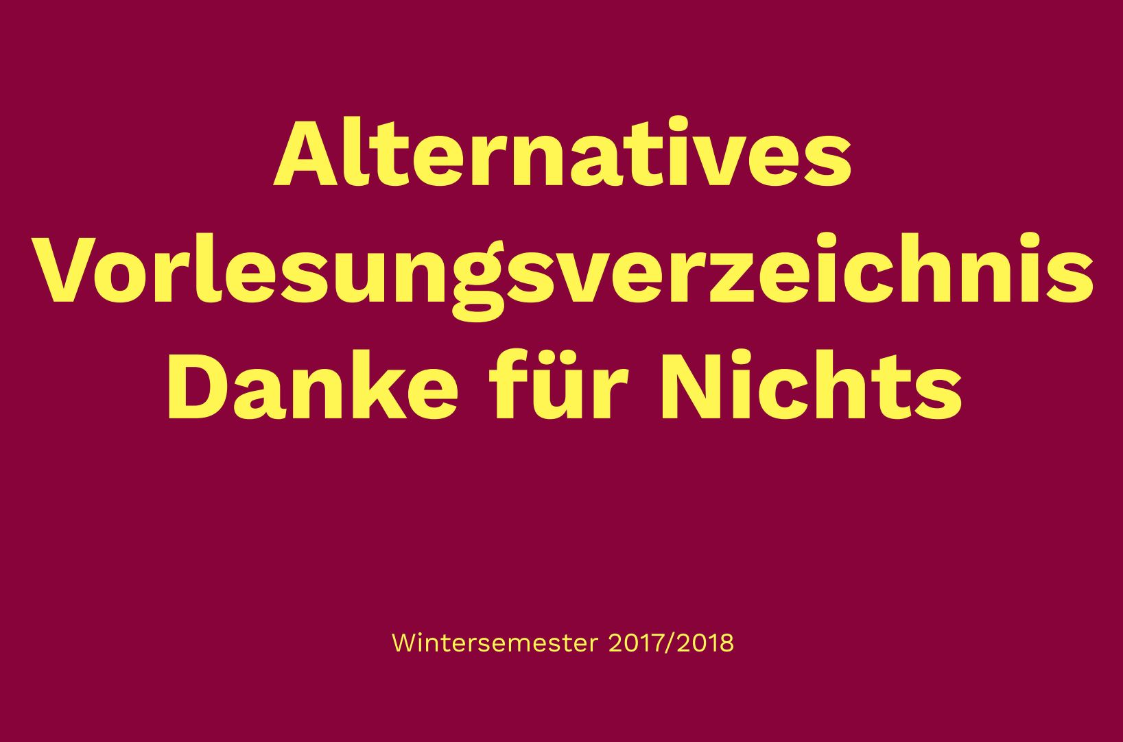 Vorlesungsverzeichnis Hannover