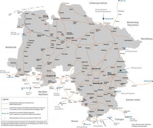 Karte vom Streckennetz