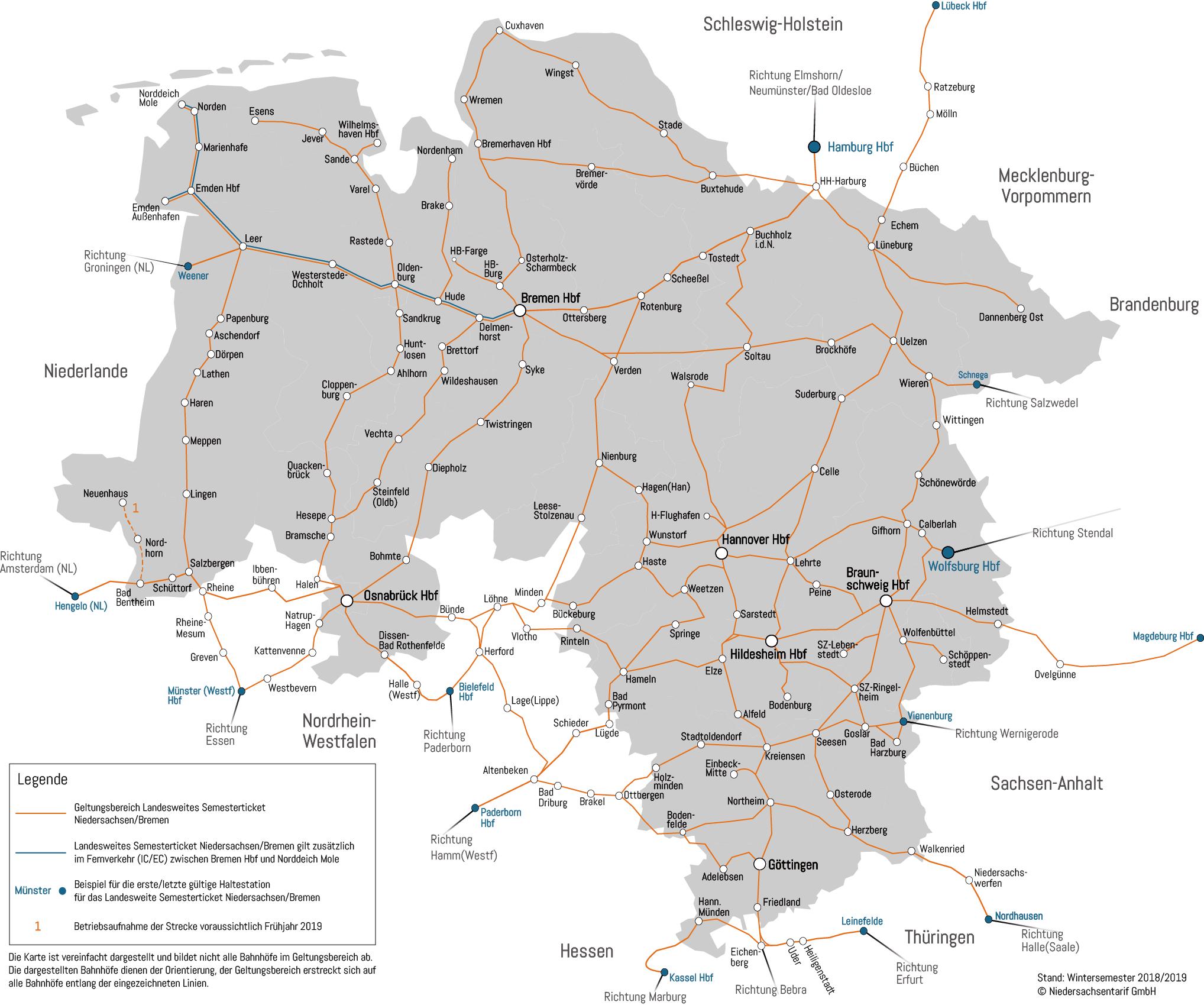 Niedersachsen Karte Mit Städten.Semesterticket Asta Uni Hannover